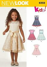 NEW LOOK Sewing Pattern Childrens Clothing Girls Toddler Dress Sz 3-8 yr~ 6359