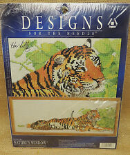 Kenneth Lilly's Natures Window Counted Cross Stitch  5416 TIgers  10 in x 28""