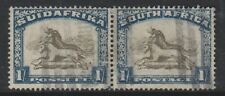 South Africa - 1932, 1s - Horizontal Pair - Used - SG 48