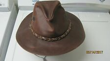 HENSCHEL WAXED LEATHER LARGE WALING HIKING COWBOY USA HAT