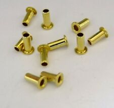 "Brass Eyelet Rivets 3/32"" Wide x 7/32"" Long Package Of 100"