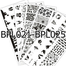 5Pcs/set BORN PRETTY Nail Art Stamping Plates Image Stamp Templates #L021-025