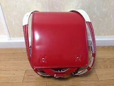 New Japanese Clarino Red Randoseru Backpack school Bag made in Japan new