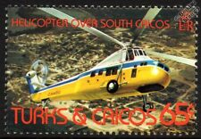 SIKORSKY H-34 (S-58) CHOCTAW Helicopter Aircraft Stamp (1982 Turks & Caicos)