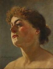 Gustav Wilhelm LAUTENSCHLÄGER ( Wien 1859-c.1945) Frauenporträt