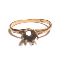 RAREST 1870 OSTBY BARTON PROTOTYPE 10k SOLITAIRE SETTING HANDWROUGHT RING MOUNT