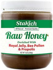 5 lb ROYAL JELLY BEE POLLEN PROPOLIS 100% Pure Natural Fresh Michigan Raw Honey