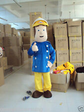 Fireman Firefighter Sam Adult Size Mascot Costume Suit Fancy Dress