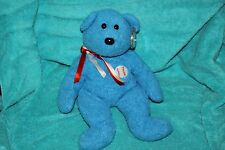 Ty Large Plush Beanie Buddy Addison the Bear  MWMT Baseball Blue