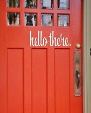 Hello there vinyl lettering wall decals art words family front door sticker home