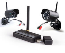 2.4Ghz 4CH USB DVR CCTV Digital Wireless Home Security Video 2 IR Cameras System