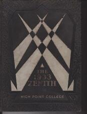 High Point College North Carolina 1933  Zenith Yearbook Annual College NC