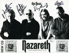 NAZARETH HAND SIGNED 8x11 GROUP PHOTO    SIGNED BY WHOLE BAND   LOVE HURTS   JSA