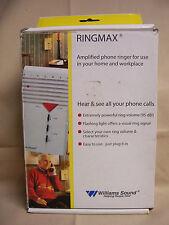 Bellman & Symfon RINGMAX 1010-0091 Amplified Phone Ringer Williams Sound hearing