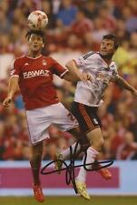 FULHAM: TIM HOOGLAND SIGNED 6x4 ACTION PHOTO+COA
