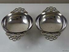 Pair of Antique Solid Sterling Silver Quaichs - Whisky Cups -