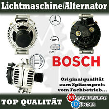 MERCEDES - BENZ CLK SLK LICHTMASCHINE ALTERNATOR ORIGINAL BOSCH 120A !!!