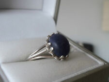 Attractive Silver  and Lapis Lazuli Ring c.1960/70s  -   Size K