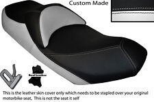 WHITE & BLACK CUSTOM 07-13 FITS SUZUKI AN 400 BURGMAN LEATHER DUAL SEAT COVER