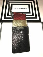 BNIB Lulu Guinness Glitter Lipstick Clutch Bag. Gift Idea!