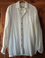Hemp Dress shirt Men's White jus naturale 100% Hemp button front shirt Large
