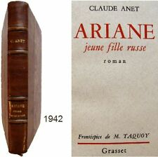 Ariane jeune fille russe 1942 Claude Anet frontispice Maurice Taquoy