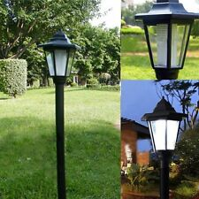 Outdoor Solar Power LED Path Way Wall Landscape Mount Garden Fence Lamp Light KY