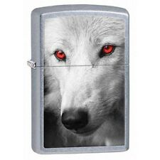 Zippo 28877 wolf red eyes street chrome finish full size Lighter