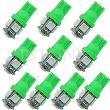 10X T10 5050 5-LED SMD 194 168 W5W Wedge Ampoule Vert XÉNON Voiture Queue Lampe
