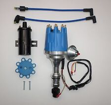 small cap OLDSMOBILE 350,400,403,455 PRO SERIES BLUE HEI Distributor+ROUND Coil