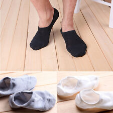3x Men Socks Non-Slip Loafer Boat Low Cut Invisible Sport Casual Ankle No Show