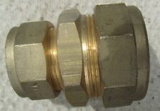 28 to 22mm BRASS REDUCERS -  compression fittings - - TWO OFF FOR SALE