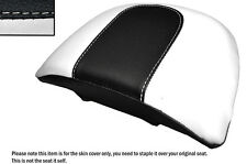 WHITE & BLACK CUSTOM FITS HARLEY DAVIDSON VROD NIGHT ROD SPECIAL REAR SEAT COVER