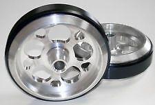 """Two NEW Universal Billet Aluminum 4"""" Wheelie Bar Wheels 5 Round Hole Design"""