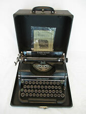 Vintage 1939 Underwood Champion Touch Tuning Typewriter with Original Case