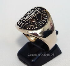TEMPLAR KNIGHT COAT OF ARMS CHRISTIAN Crusader MEDIEVAL MEN'S RING Jesus SIZE10
