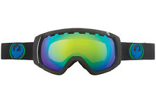 Dragon Rogue Snow Goggles Jet Black/Green Ion Lens + FREE BONUS LENS