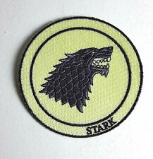 "Game of Thrones- STARK House Wolf Patch- 3"" Deluxe- FREE S&H (GTPA-002-Cream)"