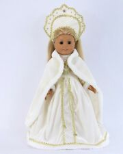 """Doll Clothes AG 18"""" Dress White Russian Headpiece For American Girl 18 Inch Doll"""