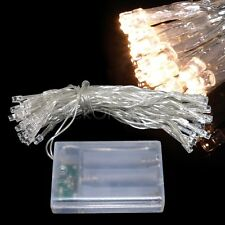Battery Powered Warm White 2M 20 LED Fairy Lights : Static ON + Flash & Off Mode