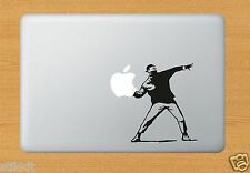 BANKSY THROWING Vinyl Decal Sticker for Apple Macbook Pro Air Mac Any Laptop