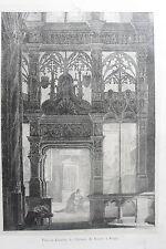 LITHOGRAPHIE ENGELMANN originale chapelle église ST jacques DIEPPE 1821