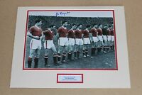 KEN MORGANS Manchester United HAND SIGNED Autograph Photo Mount Display + COA