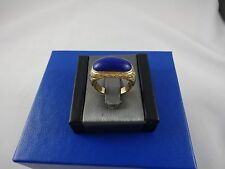 Vintage Men's 14k Yellow Gold Ring with Cabochon Lapis Stone sz 9 7.2gms