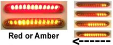 Knight Riderz Motorcycle LED Sequential Turn Signal Light Bars (Pair) - Red