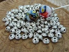 120 pce Antique Silver Saucer Spacer Beads 5mm x 3mm