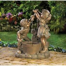 FUN AND PLAY ELECTRIC  W/PUMP WATER FOUNTAIN WEATHERED FINISH NEW~13057