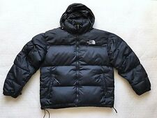 THE NORTH FACE L Large Mens 700 Black Goose Down Puffer Coat Jacket Hood