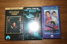 Star Trek VHS Tapes 2,3,4 Wrath of Khan Search for Spock Voyage Home