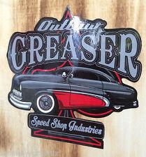 Outlaw Greaser Speedshop Oldschool Aufkleber / Rockabilly US Car Sticker Vintage